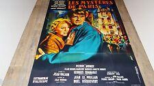 LES MYSTERES DE PARIS   !  jean marais affiche cinema 1962 mascii