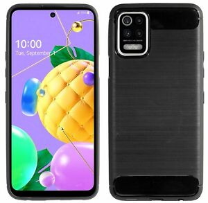 Gel Silicone Protector Pouch Bumper Case Cover Carbon For Lg K52
