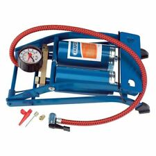 Draper Double Cylinder Foot Pump with Pressure Gauge (25996)
