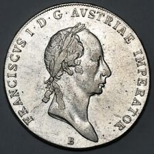 1825 FRANZ I AUSTRIA SILVER THALER TALER COIN