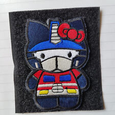 Warrior Hello Kitty Transformer Embroidered Hook Patch Tactical Morale Badge