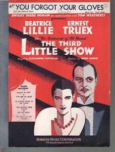 You Forgot Your Gloves 1931 Third Little Show Sheet Music