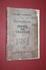 1947 Caterpillar Operator's Instructions manual Diesel D8 Tractor Original