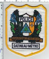Gatineau-Metro Police (Canada) Shoulder Patch from the 1980's