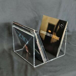 Portadischi vinili in plexiglass trasparente spessore cm. 1.  Extralarge design