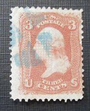 1867 US S#88 3c Washington, rose Used