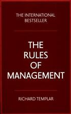 Rules of Management by Richard Templar (2015, Paperback)