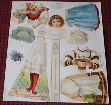 None Such New England Mince Meat Doll Uncut Sheet German & Swiss Paper Doll
