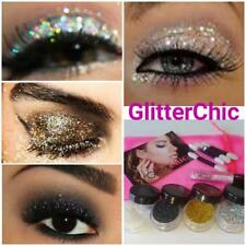 Paillettes Yeux 4 couleurs Set,lâche paillettes,fix Gel et applicateurs cadeau