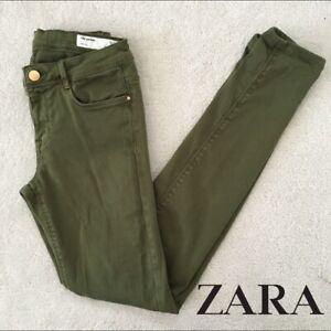 Zara Trafaluc Green Trousers