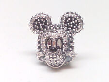 NEW Authentic Pandora Silver Disney Sparkling Mickey Portrait Charm USB794400