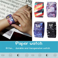 New 1PC Paper Watch LED Daily Waterproof Tyvek Paper Strap Digital Creative Gift