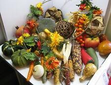 Lot Vntg Artificial Decorative Fake Vegetables Fall Decor 30+ pcs #1