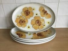 Denby Minstrel 4 x 32 cm Oval Steak Plates