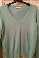 M&S mint green cashmere mix  jumper size 16