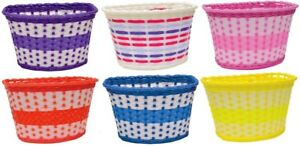 Oxford Bike Bicycle Girls Junior Woven Basket - Pink, Lilac, Red, Blue or Yellow