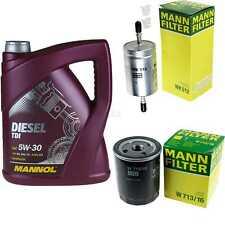 Motor-Öl 5L MANNOL Diesel TDI 5W-30+MANN-FILTER Fiat Punto 176 1.4 GT Turbo