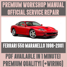 *WORKSHOP MANUAL SERVICE & REPAIR GUIDE for FERRARI 550 MARANELLO 1996-2001