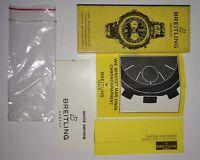 BREITLING Chronograph UHRENBOX WATCH BOX CASE Garantieschein Bedienungsanleitung
