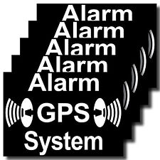 5 Pegatina Sticker GPS sistema de alarma asegurada auto ventana puerta bicicleta motocicleta