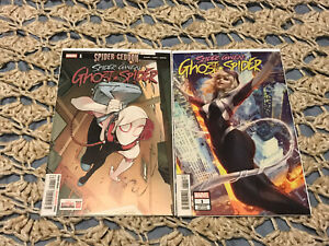 Spider-Gwen Ghost Spider #1 Artgerm Variant And Cover A 1st Print 2018 NM/NM+