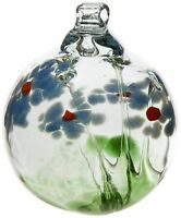 Kitras 2-Inch Blossom Ball Glass Ornament, Sympathy