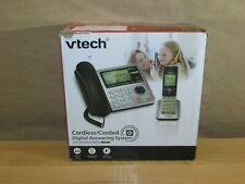 VTech CS6649 DECT 6.0 Expandable Corded/Cordless Phone with Answering System