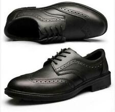Men Dress Safety Work Shoes Steel Toe lace up Cap oxford Brogues Office Shoes @