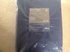JOHN LEWIS FAUX SILK SAPPHIRE NAVY BLACKOUT LINED CURTAINS W 228 cm D137cm, New