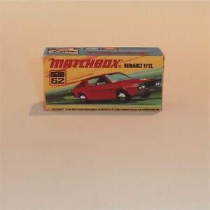 Matchbox Superfast 62 f Renault 17TL Empty Repro I Style Box