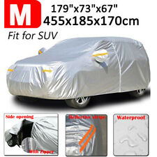 M Full Car Cover Waterproof Outdoor Zipper For SUV All Weather Dust UV Protector
