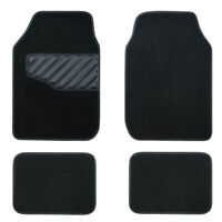 Universal Car Floor Mats Elegant Black Anti-slip Car styling Carpets Cloth 4 PCS