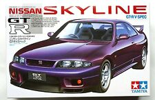 TAMIYA 1/24 Nissan Skyline GT-R V-spec (R33) sports car #24145 scale model kit