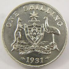 8 Pearls 1931 Australian Shilling 92.5% Sterling Silver King George V Coin S-103