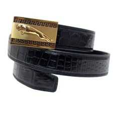 Genuine Crocodile Alligator Belly Skin Leather Mens Belt WITHOUT JOINTED #OS0101
