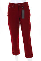 Cambio Womens Jeans Size 4 Red Cotton High Rise Celia Cropped New $195