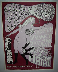Very Rare 1966 Print Mint AOR 2.353 Poster - BG FD Bill Graham Family Dog