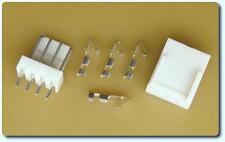 Pack De 5 X 4 Vías Rectas Pin Header & 5x Crimp vivienda + 20x terminales de crimpeado