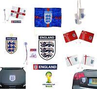ENGLAND Football  - CAR FLAGS - Official FIFA WORLD CUP & UEFA EURO Merchandise