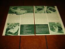 1958 PORSCHE 1600 SUPER SPEEDSTER ***ORIGINAL VINTAGE ARTICLE***