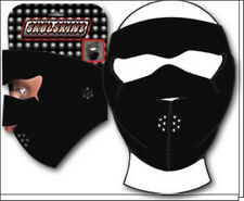 Capsmith Skullskin Black Full Face Neoprene Mask Biker ATV Paintball Ski Sports