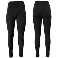 2x Damen Soft Thermohose Leggins Ski Unterhose Gr. S M L XL (One Size) Schwarz