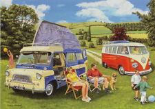Bedford CA Debonair Volkswagen VW Volkswagon Camper van Birthday Card