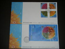 HONG KONG 1994 Carols stamps & S/S Official First Day Covers VF