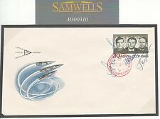 MS333 1969 COSMONAUT SIGNED SPACE STAMP *Shatlov*etc Autographs USSR SPACE Cover