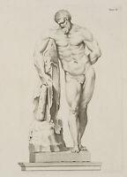 Der Farnesische Herkules mit dem Fell des Nemeischen Löwen, c.1850, Rad.