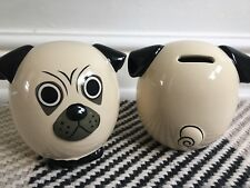 TOPSHOP Ceramic Pug DOG Money Box new RRP £16