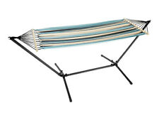 NEW!  Hammock with Frame and  Storage Bag FAST DELIVERY - Blue