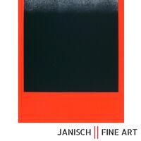 """RUPPRECHT GEIGER - """"Schwarz auf Rot"""", handsigniert, 1968, Auflage 150 !"""