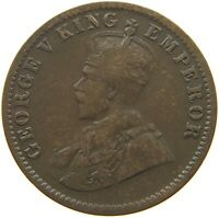 INDIA BRITISH 1/4 ANNA 1916 #s6 313